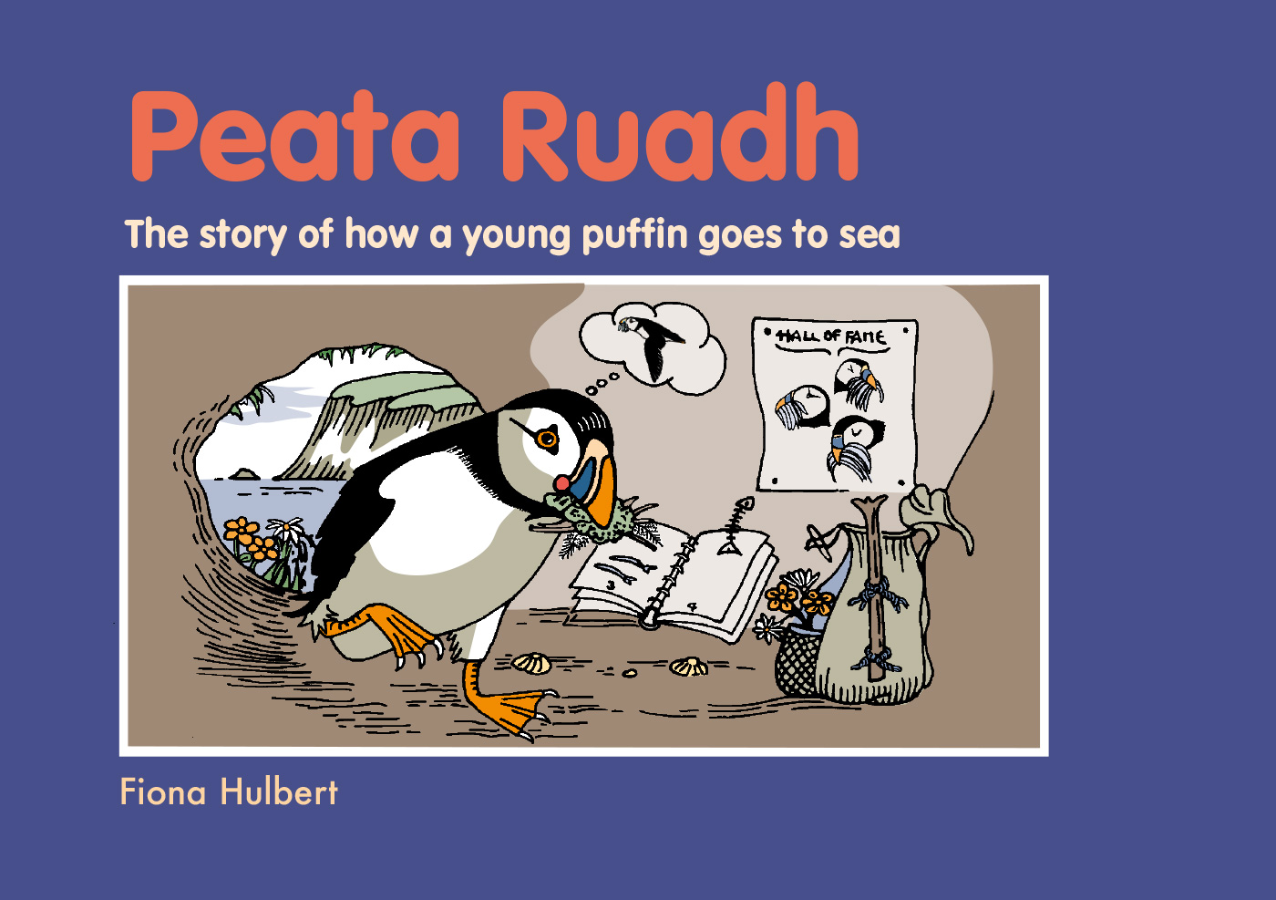 What a great adventure. Peata Ruadh is getting ready to leave everything he knows.Young puffins leave for the first time to spend the next 4 or 5 years out at sea. Older puffins make the yearly departure  to spend the winter at sea.